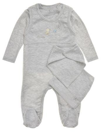 Garnamama detský dojčenský set md28982_fm1 62 sivá