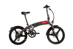 S-bikes Skladací elektrobicykel F50e sivý