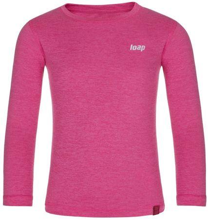 Loap Pitta dekliška termo majica, roza, 122/128