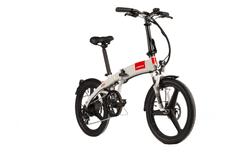 S-bikes Skladací elektrobicykel F50e biely