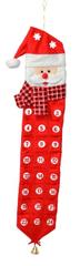 DUE ESSE Adventní kalendář s kapsičkami 84 x 22 cm, Santa