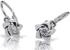 Cutie Jewellery Dětské náušnice s designem růžiček C2201-10-2 zlato bílé 585/1000
