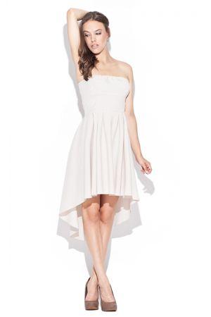 Katrus Női ruha K031 beige + Nőin zokni Sophia 2pack visone, bézs, L