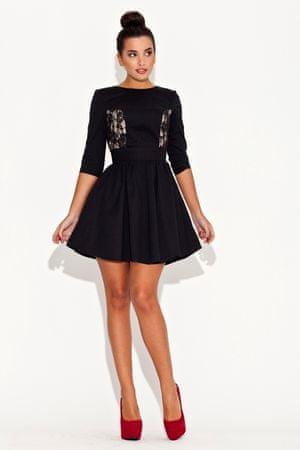 Katrus Sukienka damska K068 black, czarny, L