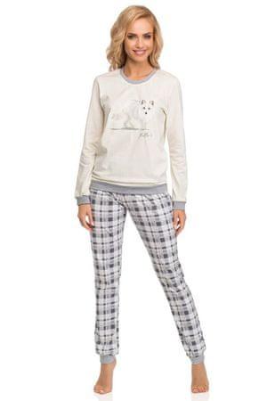 Cornette Női pizsama 683/55 Fox, szürke, XL