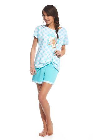 Cornette Női pizsama 675/69 Rabbit, türkiz, L
