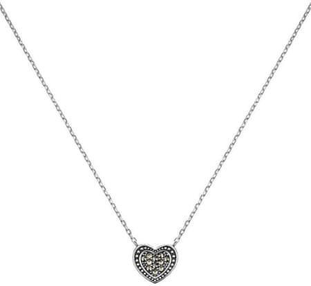 Engelsrufer Srebrna ogrlica Srce z markaziti ERN-HEART-MA srebro 925/1000