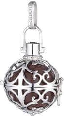 Engelsrufer Ezüst medál Angyali harang barna csengővelER-03 ezüst 925/1000