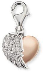 Engelsrufer Ezüst bicolor medál a szív karkötőhöz az ERC-HEARTWINGBI-val ezüst 925/1000