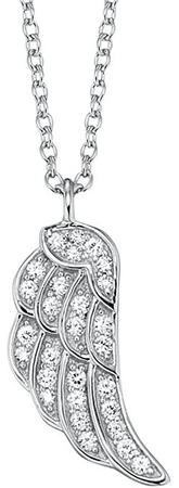 Engelsrufer Srebrna ogrlica Krilo z cirkoni ERN-LILWING-ZI srebro 925/1000