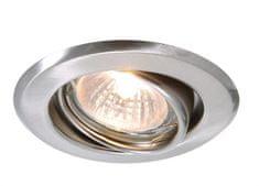 Light Impressions Light Impressions Kapego stropní vestavné svítidlo 12V AC/DC GU5.3 / MR16 1x max. 50,00 W stříbrná 442838