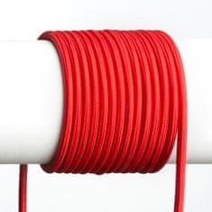 RED Design Rendl RENDL FIT 3X0,75 1bm textilní kabel červená R12224
