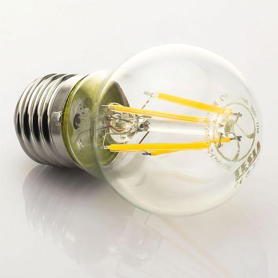 TESLA TESLA - LED žárovka CRYSTAL RETRO miniglobe, E27, 4W, 230V, 470lm, 10 000h, 2700K teplá bílá, 360°, MG270427-3