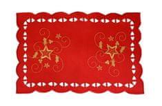 DUE ESSE Karácsonyi abrosz 44,5 x 29 cm, piros