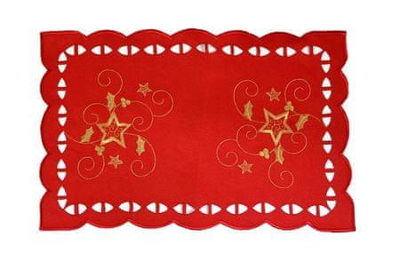 DUE ESSE Vianočné prestieranie 44,5 x 29 cm, červené