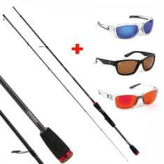 FOX RAGE Akce Fox Rage rybářský prut Prism Lite Spin 210cm 2-8g, 2 díly + Fox Rage polarizační brýle zdarma