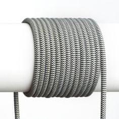 RED Design Rendl RENDL FIT 3X0,75 1bm textilní kabel černá/bílá R12216
