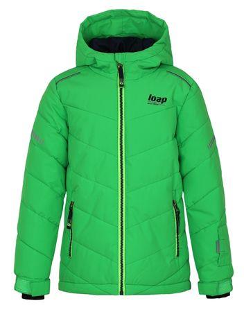 Loap detská lyžiarska bunda Furio 122/128 zelená