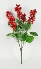 DUE ESSE Karácsonyi dekoráció gally levelekkel és erdei bogyókkal 36 cm