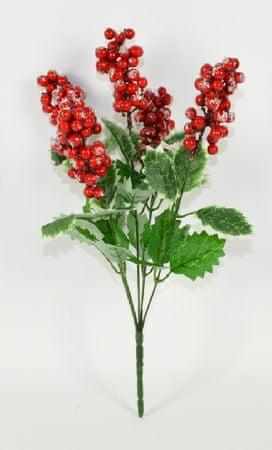 DUE ESSE vejica z listi in gozdnimi jagodami, božični okrasek, 36 cm
