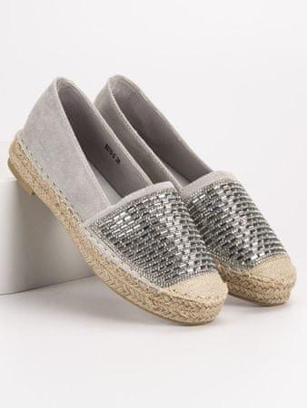 Vices Női balerina cipő 54357, szürke és ezüst árnyalat, 36