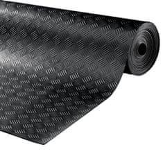 Černá gumová průmyslová protiskluzová rohož Delta - 1000 x 150 x 0,3 cm