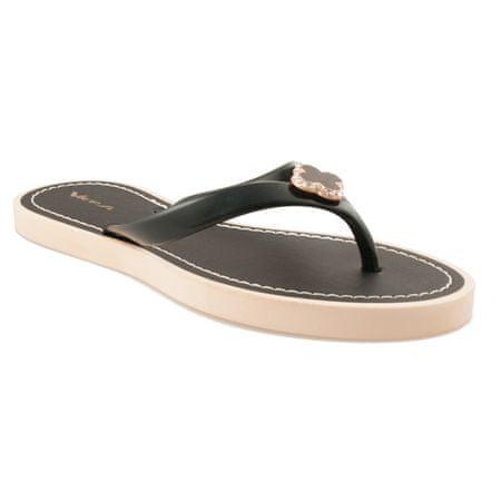Vices Női tangapapucs 2271 + Nőin zokni Sophia 2pack visone, fekete, 38