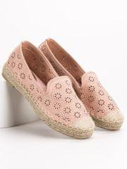 Vices Komfortní růžové baleríny dámské bez podpatku