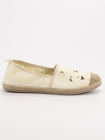 Vices Női balerina cipő 55350, sárga és arany árnyalat, 38