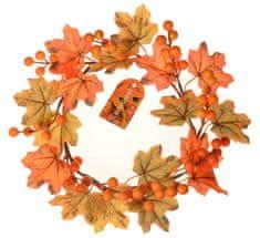 EverGreen Vijenac s javorovim listovima i bobicama, promjer 22 cm