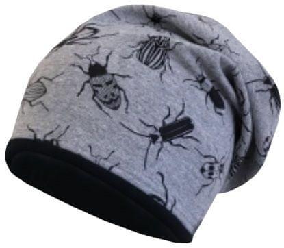 Yetty fantovska kapa s potiskom hroščev, S, siva