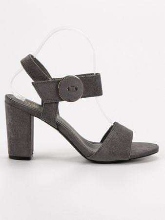 Vinceza Női szandál 50258 + Nőin zokni Sophia 2pack visone, szürke és ezüst árnyalat, 36