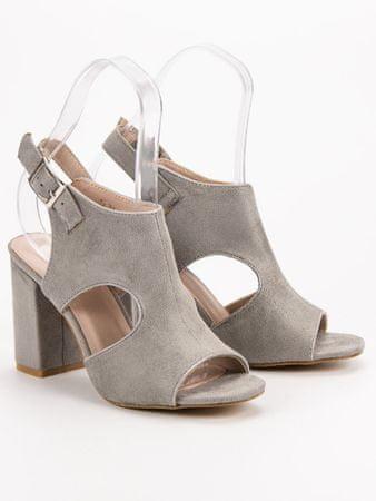Vinceza Női szandál 52948 + Nőin zokni Gatta Calzino Strech, szürke és ezüst árnyalat, 37