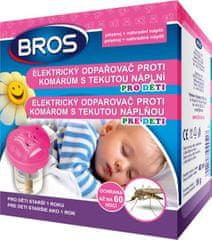 BROS elektrický odpařovač proti komárům s tekutou náplní pro děti 40 ml