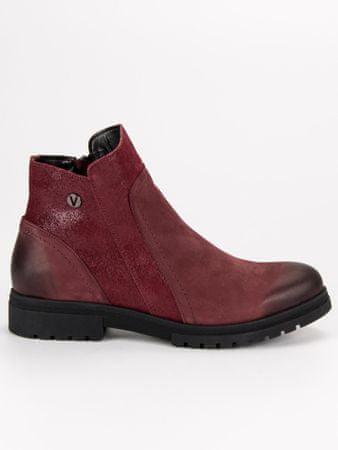 Vinceza Női bokacipo 45676 + Nőin zokni Sophia 2pack visone, piros árnyalat, 36