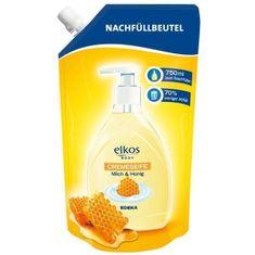 Elkos tekuté mydlo, náhradná náplň med a mlieko - 750 ml