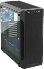 SilentiumPC Armis AR7 TG RGB, okno, čierna