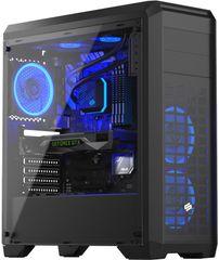 SilentiumPC RG4T RGB Pure Black, okno, čierna