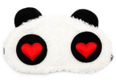 Earplugs Panda Červené Srdce Maska na oči na spaní