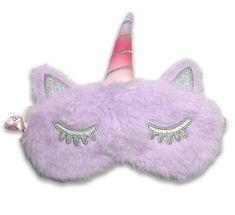 Earplugs Maska na oči na spaní Jednorožec růžový