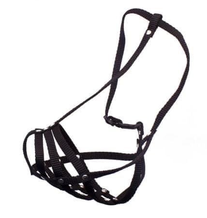 BAFPET Nylonový náhubok BOXER, pletený čierny