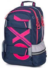 Karton P+P anatomski ruksak OXY SPORT Blue Line Pink, roza