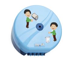 Flora Zásobník toaletného papiera sa stredovým odvíjaním, detský vzor - modrý