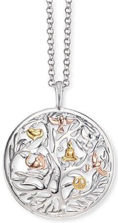 Engelsrufer Stříbrný tricolor náhrdelník Strom života ERN-TREE-TRICO stříbro 925/1000