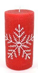 DUE ESSE Vánoční dekorace svíčka 11 cm, vločka