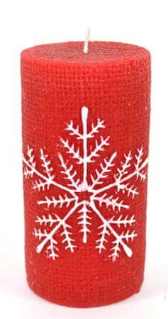 DUE ESSE Snežinka, svečka, 11 cm