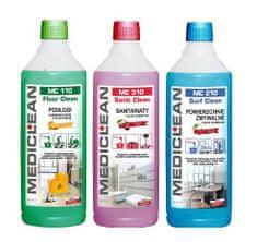 Mediclean Úklidová chemie na podlahu, sanitu a omyvatelné povrchy 3 x 1 l