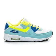 Stylové a pohodlné dámské tenisky - modro-žluté