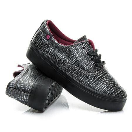 Női tornacipő 2315 + Nőin zokni Gatta Calzino Strech, szürke és ezüst árnyalat, 40