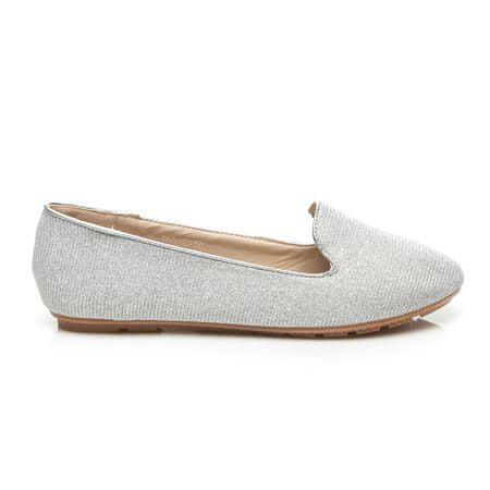 Női balerina cipő 2467, szürke és ezüst árnyalat, 36